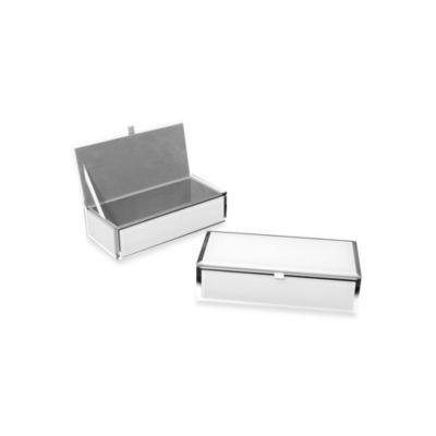 Swing Design® Mia Small Glass Rectangular Storage Box in White