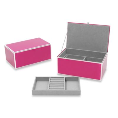 Swing Design® Mia Glass Jewelry Box in Pink