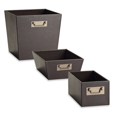 Kenneth Cole Reaction Home Size Shallow Bin in Brown