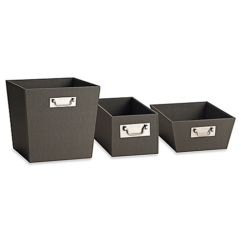 Kenneth Cole Reaction Home Bin In Grey Bed Bath Amp Beyond