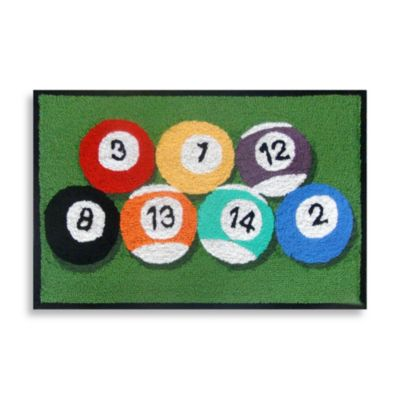 Trans-Ocean 20-Inch x 30-Inch Frontporch Billiard Door Mat