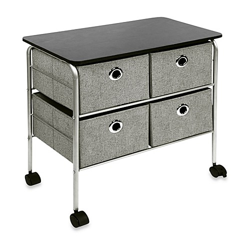 4 Drawer Rolling Night Stand In Grey Bed Bath Amp Beyond
