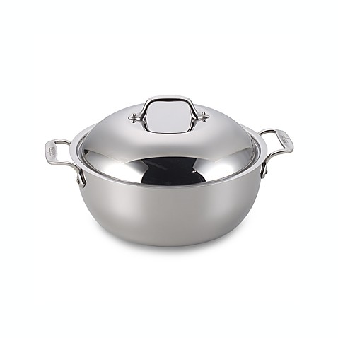 All-Clad Stainless Steel 5 1/2-Quart Covered Dutch Oven