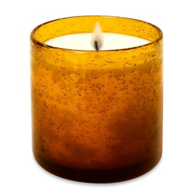 Lumiere Amber Oak Scented Glass Candle Cup