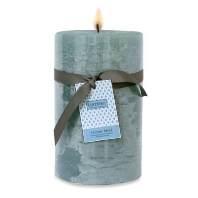 Lumiere 5-Inch x 8-Inch Storm Mist Scented Pillar Candle