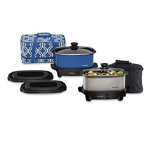 West Bend® Versatility 5-Quart Oblong Slow Cooker with Tote
