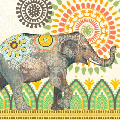 Caravan Elephants I Wall Art