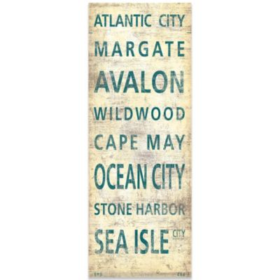 South Jersey Shore Places Canvas Wall Art