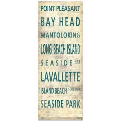 Central Jersey Shore Places Canvas Wall Art