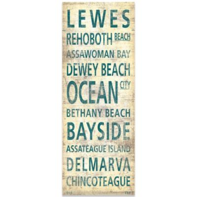 Delmarva Places Canvas Wall Art