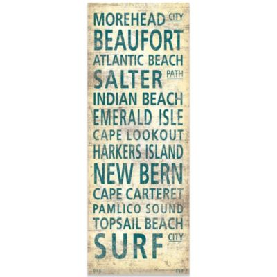 North Carolina North Shore Places Canvas Art