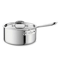 All-Clad Stainless Steel Covered Saucepan