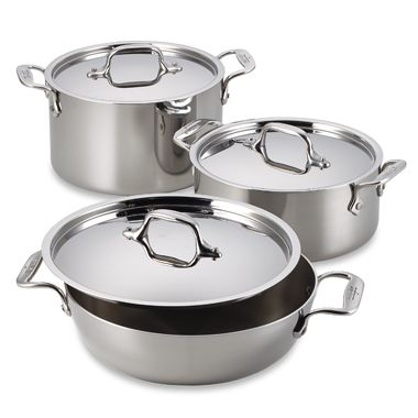All-Clad Stainless Steel Covered Casseroles