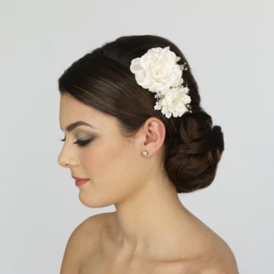 Carnation Flower Bridal Comb
