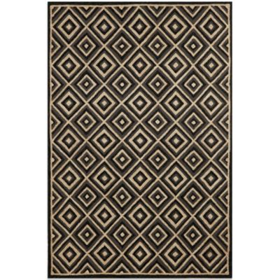 Brown Jordan Carlton Diamond 7-Foot 6-Inch x 9-Foot 6-Inch Rug in Charcoal