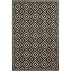 Brown Jordan Carlton Diamond Rug in Charcoal