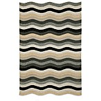 Brown Jordan Carlton Waves Indoor/Outdoor Rug in Black
