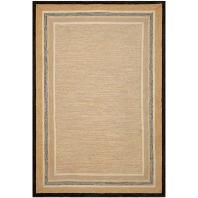 Brown Jordan Carlton Stripe Border 2-Foot x 3-Foot Rug in Natural