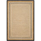 Brown Jordan Carlton Stripe Border Rug in Natural