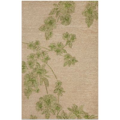 Brown Jordan Carlton Branches 2-Foot x 3-Foot Rug in Green