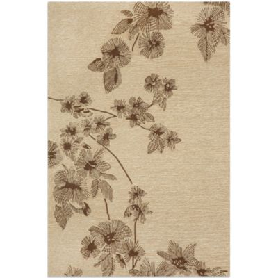 Brown Jordan Carlton Branches 3-Foot 6-Inch x 5-Foot 6-Inch Rug in Brown