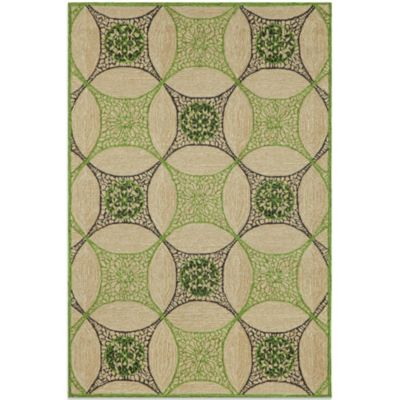 Brown Jordan Carlton Interlace Rug in Green