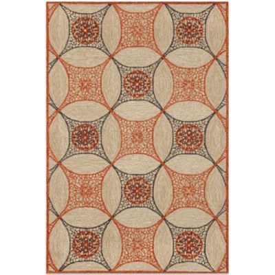 Brown Jordan Carlton Interlace 3-Foot 6-Inch x 5-Foot 6-Inch Rug in Orange