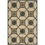 Brown Jordan Carlton Interlace Rug in Black