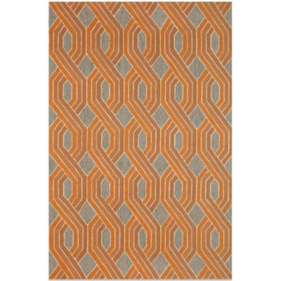 Brown Jordan Carlton Braids 3-Foot 6-Inch x 5-Foot 6-Inch Rug in Orange