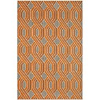 Brown Jordan Carlton Braids Rug in Orange