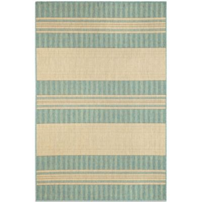 Brown Jordan Madison Stripe 1-Foot 11-Inch x 2-Foot 11-Inch Rug in Ocean