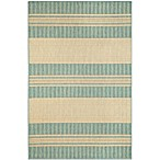 Brown Jordan Madison Stripe Rug in Ocean