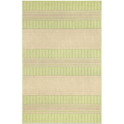 Brown Jordan Madison Stripe Rug in Green