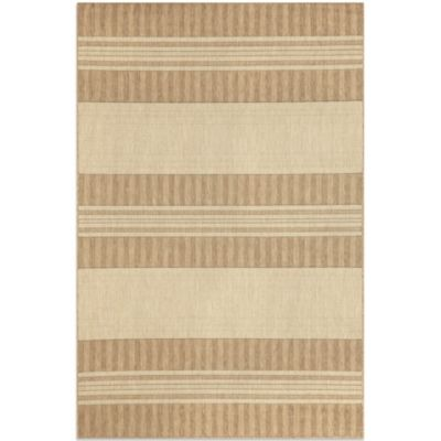 Brown Jordan Madison Stripe 1-Foot 11-Inch x 2-Foot 11-Inch Rug in Neutral