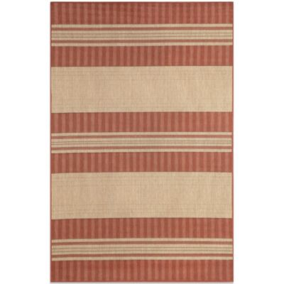 Brown Jordan Madison Stripe 1-Foot 11-Inch x 2-Foot 11-Inch Rug in Sunset