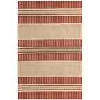 Brown Jordan Madison Stripe Rug in Sunset