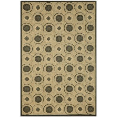 Brown Jordan Madison Tiles Rug in Charcoal