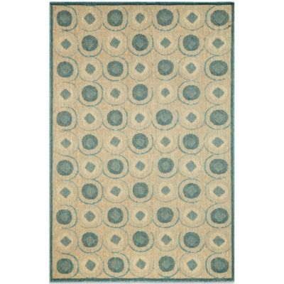 Brown Jordan Madison Tiles Rug in Ocean