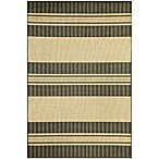 Brown Jordan Madison Stripe Rug in Charcoal