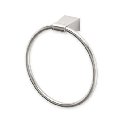 Gatco® Blue Towel Ring in Satin Nickel