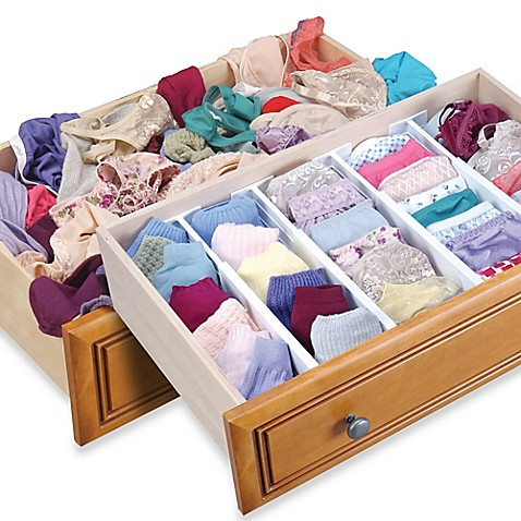 Dream Drawer™ Expandable Spring Loaded Drawer Divider (Set of 2) - BedBathandBeyond.com