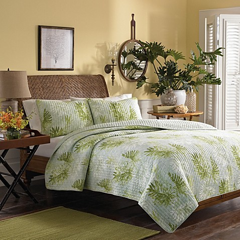 Buy Tommy Bahama Antigua Quilt In Green From Bed Bath Beyond