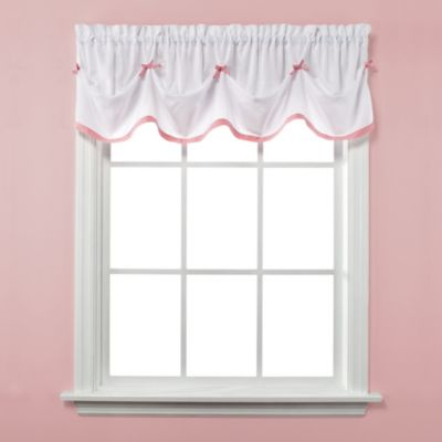 Kayla Window Curtain Valance in Pink