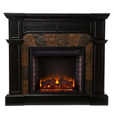 Southern Enterprises Cartwright Convertible Electric Fireplace in Ebony