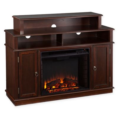 Southern Enterprises Lynden Media Console Electric Fireplace in Espresso