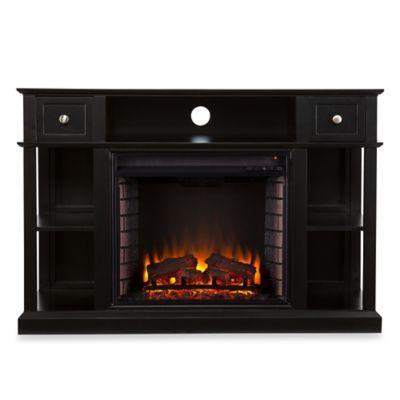Black Media Fireplace