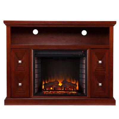 Southern Enterprises Creston Media Fireplace in Cherry