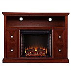 Creston Media Fireplace in Cherry