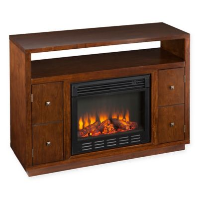 Southern Enterprises Brentford Media Fireplace in Dark Tobacco