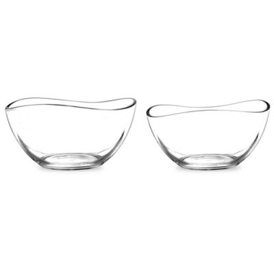 Portmeirion Ambiance Large Glass Bowls (Set of 2)